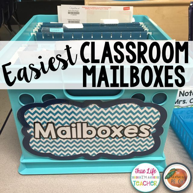 Easiest Classroom Mailboxes Ever | The Primary Peach | Bloglovin