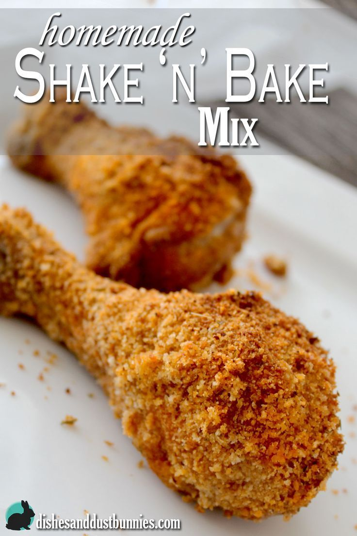 Homemade Shake n Bake mix from dishesanddustbunnies.com