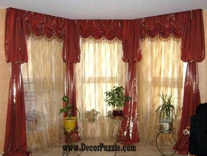 luxury classic curtains and drapes 2015, red curtains designs for living room