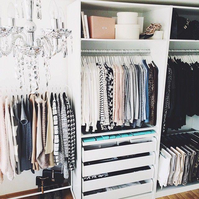die besten 25 kleidung lagerung ideen auf pinterest kleidung aufbewahrung. Black Bedroom Furniture Sets. Home Design Ideas