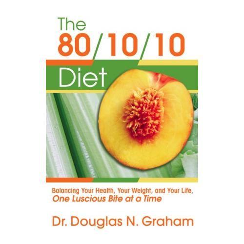 Диета 80/10/10 The 80/10/10 Diet 2006 http://veggiepeople.ru/node/709  Книга, которая впервые собрала в себе все основы фруктоедения. Основана диета на употреблении свежих фруктов и овощей. Такая диета в сочетании со спортом, быстро приносит желаемый результат.  Сам автор уже как тридцать лет употребляет преимущественно свежие продукты. Доктор Грэхем довольно известная личность, он долгое время был личным диетологом у таких знаменитостей как Мартина Навратилова и Деми Мур.  #книги