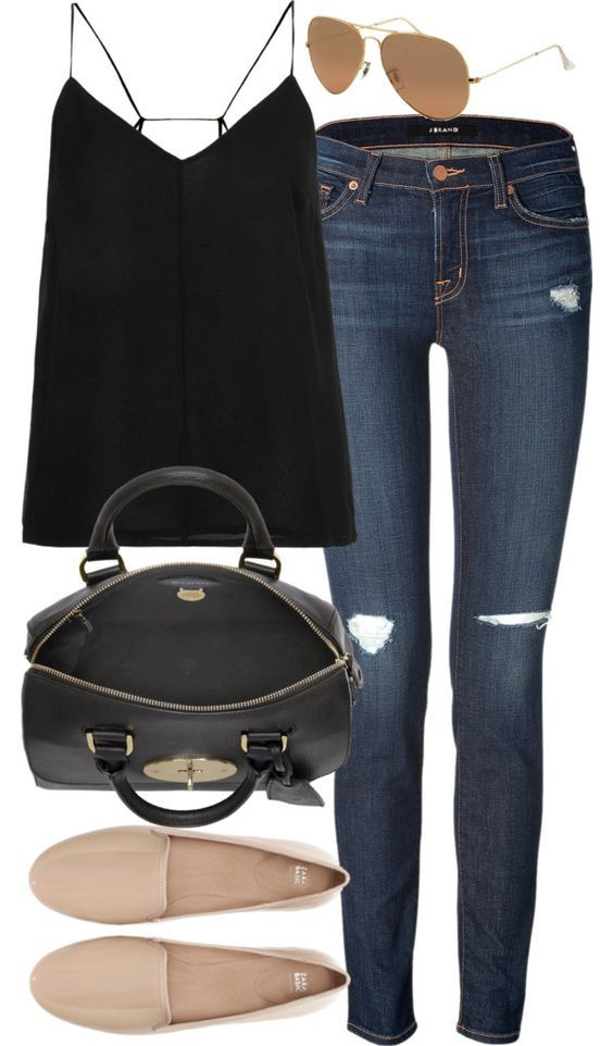 inspired outfit for a summer lunch by whathayleywore featuring flat shoes