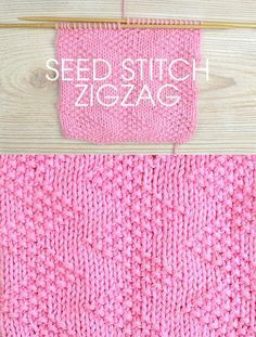 Free instructions for knitting the zigzag seed stitch. 10 row repeat.I think this would be great for a baby blanket or a shawl or just about anything. For some reason chevron and zigzag patterns really appeal to me...Get the instructions at Deramore's http://www.awin1.com/cread.php?awinaffid=234273&awinmid=5626&p=https%3A%2F%2Fus.deramores.com%2Fblogs%2Fderamores-blog%2Fstitch-of-the-week-seed-stitch-zigzag You can also get 15% off your first Deramore's order with the code HELLO