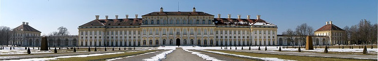 New Palace Schleissheim (East Side) –   The Schleissheim Palace actually comprises three palaces in a grand baroque park in the village of Oberschleißheim near Munich, Bavaria, Germany. The palace was the summer residence of the rulers of Bavaria.