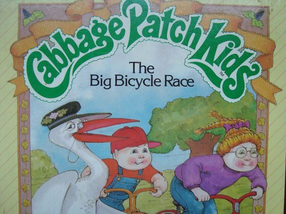 Cabbage Patch Kids - Vintage Illustrated Children's Story Book - The Big Bicycle Race