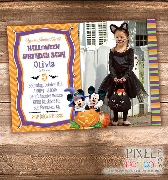 21 best halloween cards party favors images on pinterest mickey mouse halloween birthday invitation halloween invitation halloween haunted mansion invitation halloween filmwisefo