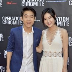 Lance Lim and Megan Lee at the Special Screening of 'Operation Chromite' in  Los Angeles