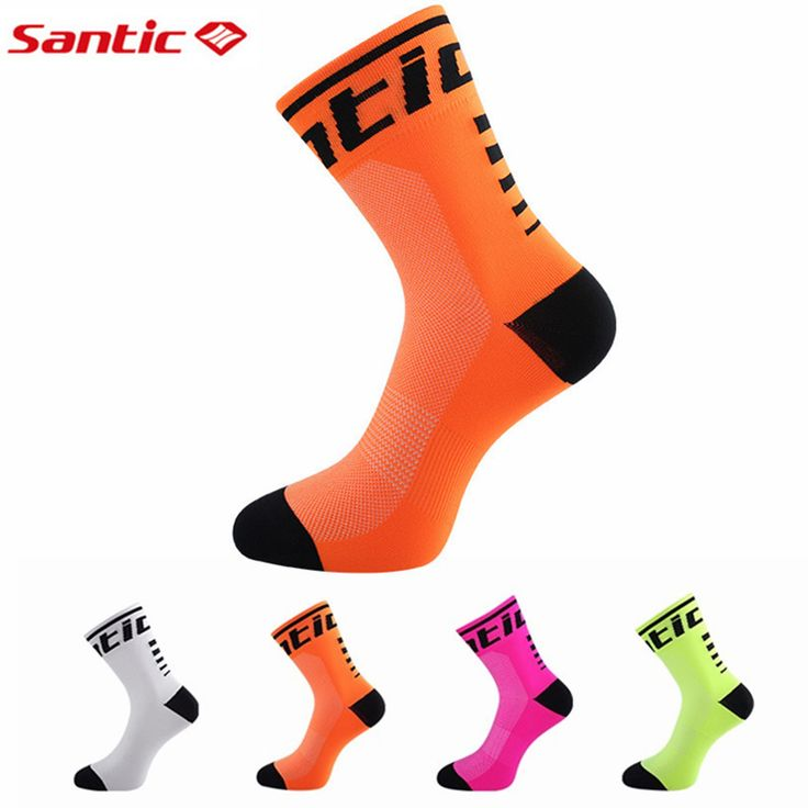 Santic Cycling Socks Sports Outdoor Socks Breathable Running Bike Socks calcetines ciclismo 6 Color Free Size 6C09054