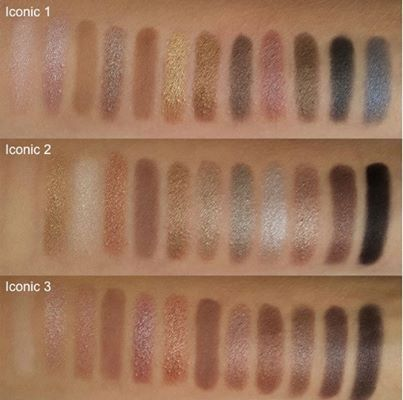 MAKE UP REVOLUTION PALETTE swatch - iconic 1,2,3