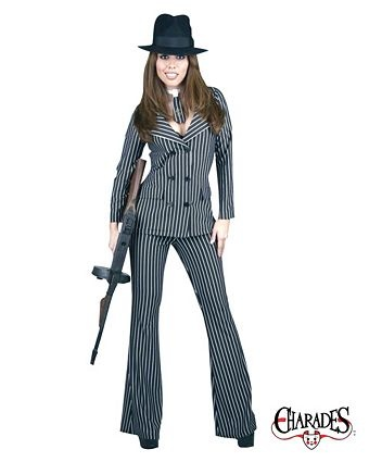 Adult Gangster Moll Costume | Wholesale Gangsters Halloween Costume for Women