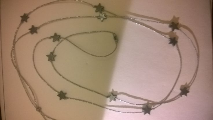 Hematite stars necklace