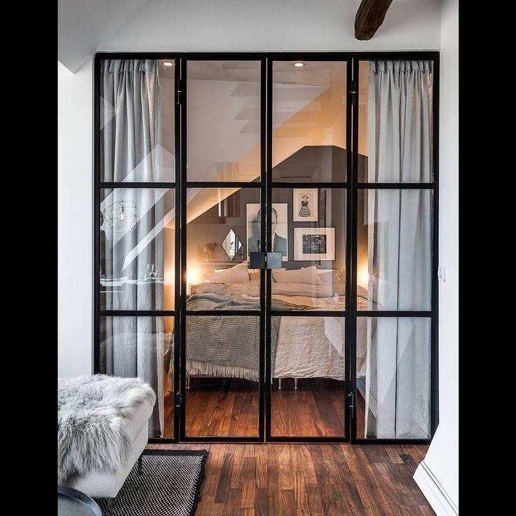On vous prouve que la porte vitrée est la cloison à adopter – Elle Décoration