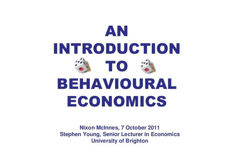 Intro to Behavioural Economics