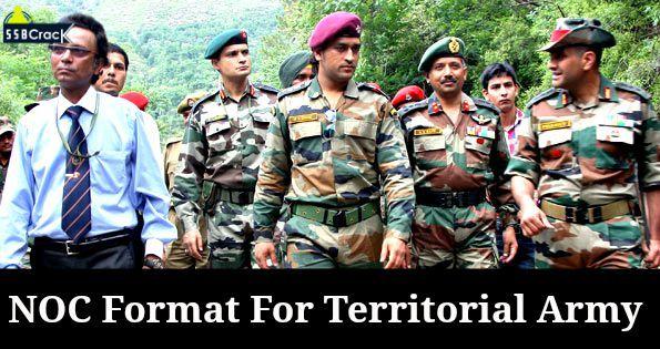 NOC Territorial Army