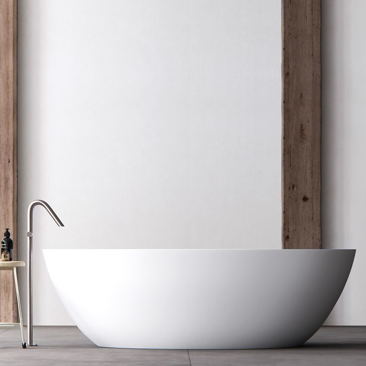 Clay ELLIPSE - freestanding oval Solid surface bathtub.