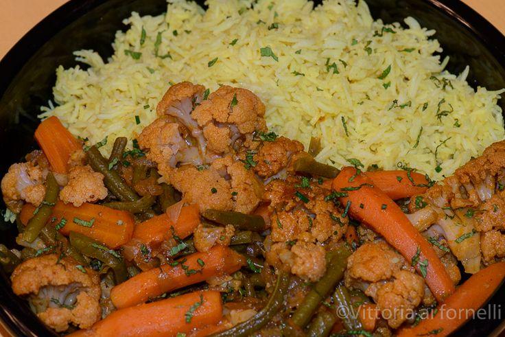 Basmati rice with lemon and spiced vegetables Riso basmati al limone con verdure speziate - Vittoria ai fornelli