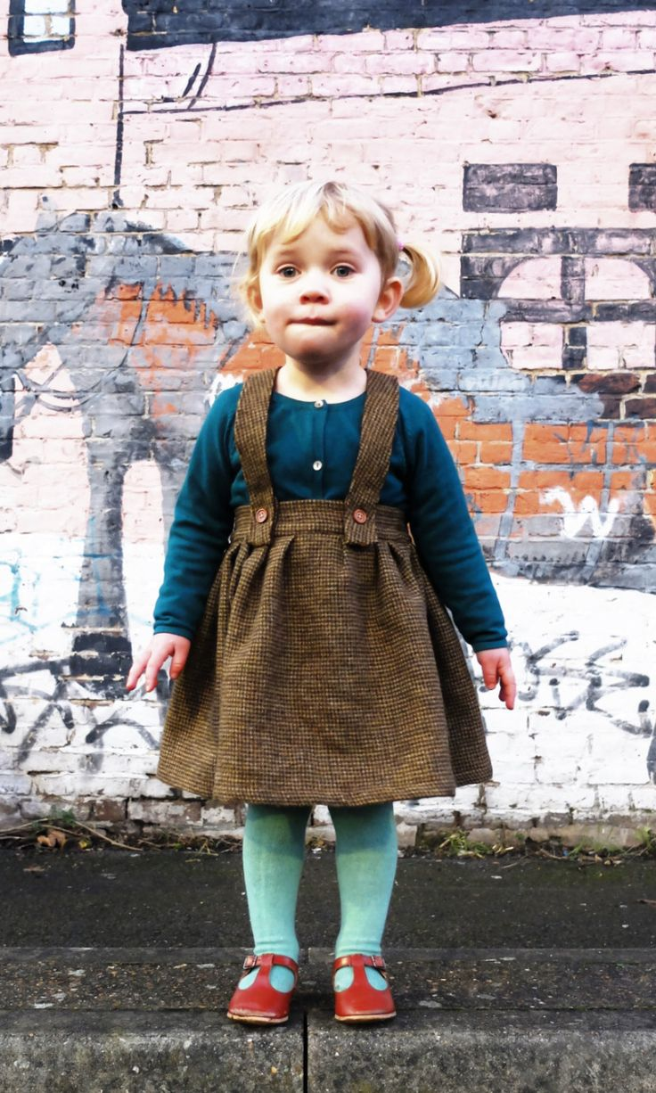 Handmade Wool Dungaree Skirt by YouAreSmall on Etsy