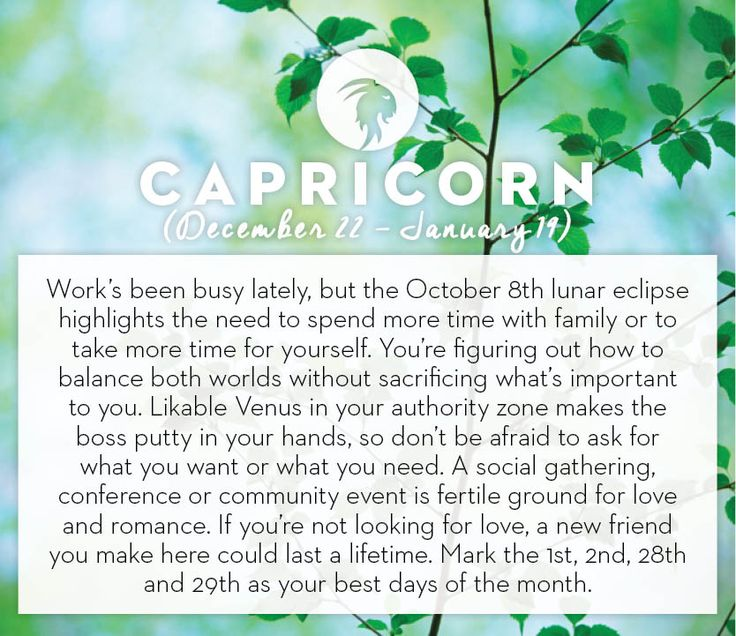 Get your horoscope for the month of October! #horoscopes #capricorn