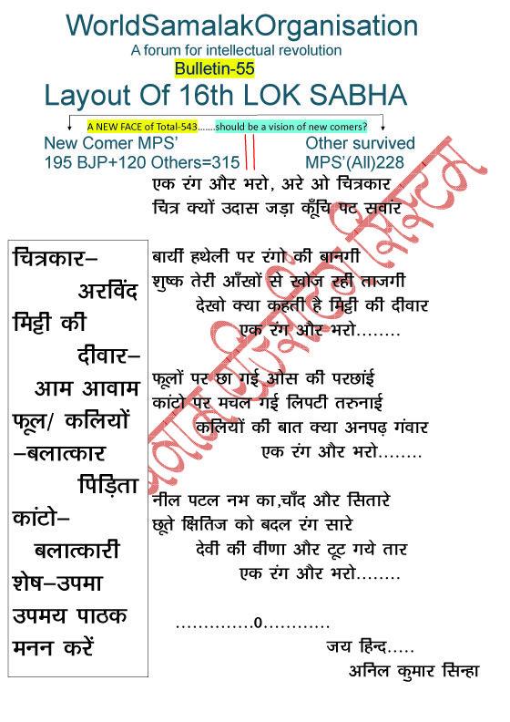 World Samalak Organisation: bulletin-55..A Song From 'GUJARE PAL-2'