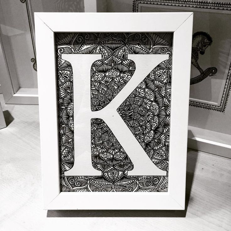 """K"" in 13x18cm White Frame £15 #homedecor #homestyle"