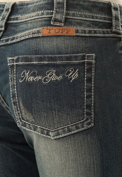 Cowgirl Tuff Women's Roses Truth II Jean JRSTII This is a zoom in on the pocket- we LOVE this jean! Click to see more. #OutbackWesternWear
