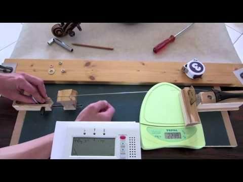 Mesure de la pression des cordes d'un violon alto - YouTube