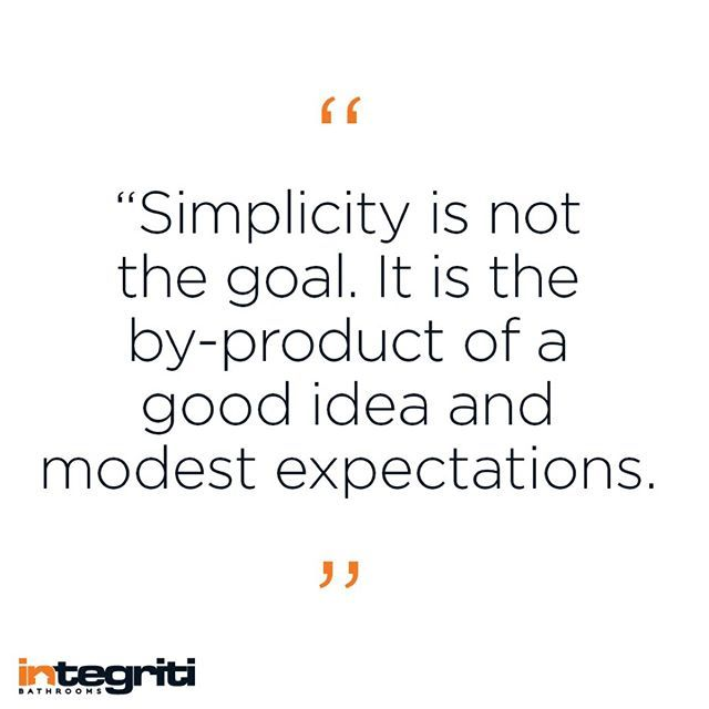 Simple things are never easy, but in a bathroom its necessary. #inspiration #design #paulrand #quote #inspo #designquote #designer #bathroom #bathroomdesign #interiordesign #interiordecorating #simplicity #renovate #renovation