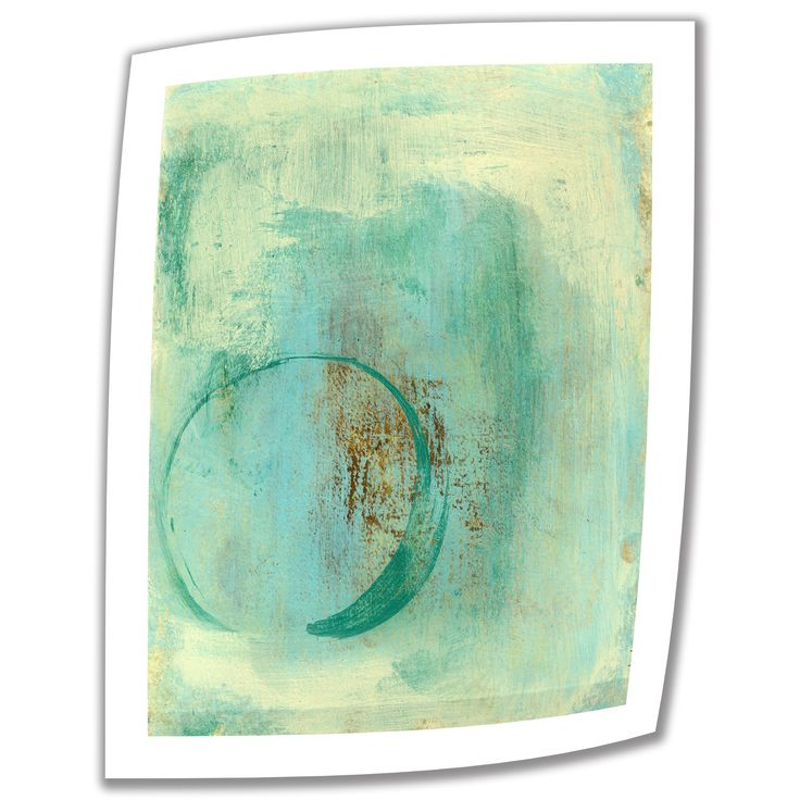 ArtWall Elena Ray 'Teal Enso' Unwrapped Canvas