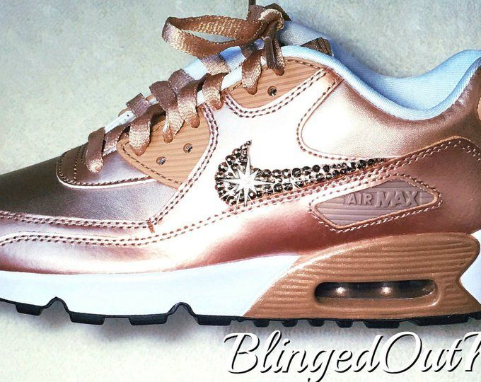 Women s Crystahhled - Blinged Out - Nike Swarovski - Bling Nike Shoes -  Bling Air Max - Rose Gold Shoes - Perfect Gift - Nike Shoes f99256673ddc