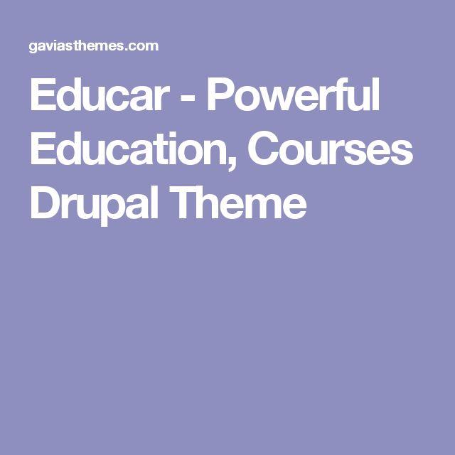 Educar - Powerful Education, Courses Drupal Theme
