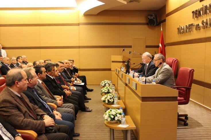 """Odamız Yönetim Kurulu Başkan Yardımcısı İsmail Köroğlu, """"Tekirdağ Ekonomi Günleri"""" Toplantısına Katıldı"""