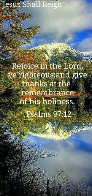 Psalm 97:12 KJV