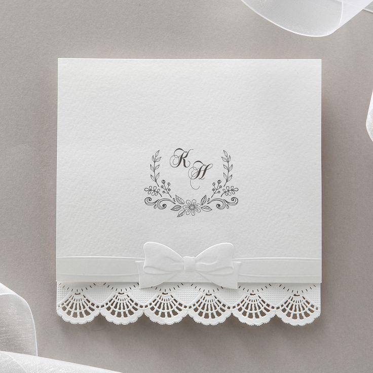 White Laser Cut Lace Wedding Invitations – BH 5147 | ItsInvitation