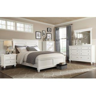 [Bridgeport 5-Piece King Bedroom Set – White]
