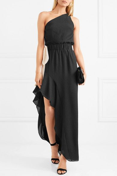983ae244ddbf Halston Heritage | One-shoulder two-tone cloqué gown | NET-A-PORTER.COM