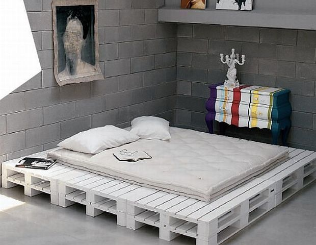 Łóżko z palet: Diy Pallet, Pallet Beds, Diy'S, Bed Frame, Pallet Furniture, Pallet Ideas, Pallets, Bedroom