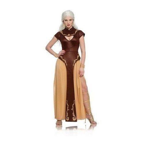 Khaleesi Halloween Costume Warrior Woman Daenerys Targaryen Game Of Thrones Sexy #KhaleesiHalloweenCostume #Medieval #CarnivalCosplay