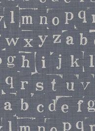 design team fabric - typewriter