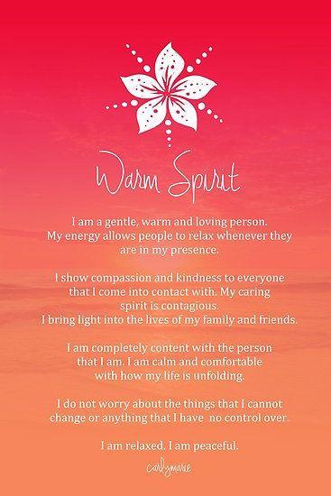 Affirmation - Warm Spirit by CarlyMarie