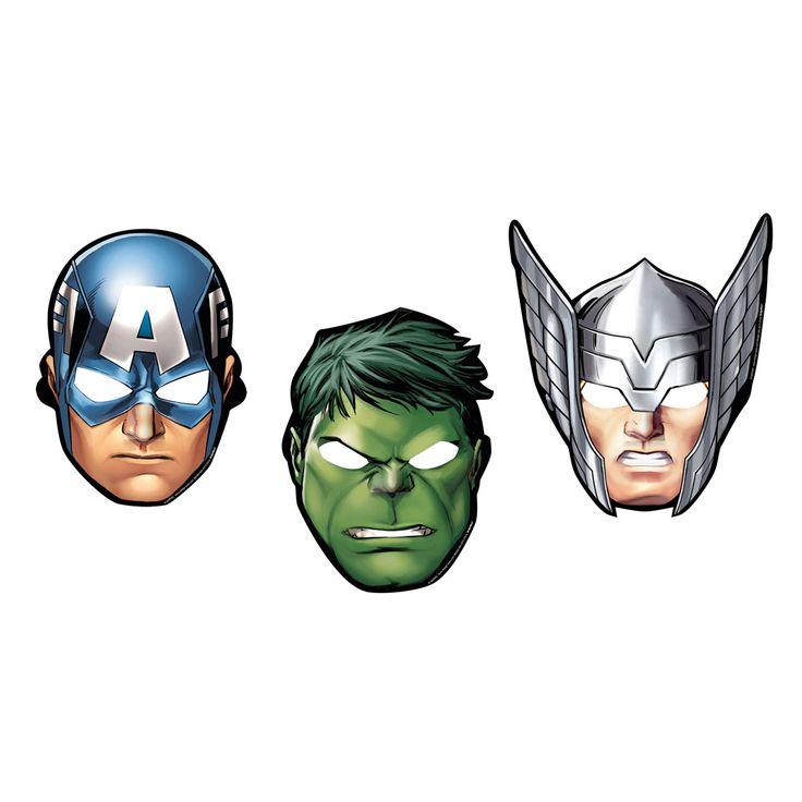 Voici 8 masques Avengers. Dans ce lot, l'enfant trouve des masques pour chacun des personnages suivants : Hulk, Captain America et Thor. Ces 8 masques Avengers permettent d'animer un goûter d'anniversaire ou une petite fête entre amis. Ils peuvent aussi être un petit cadeau à offrir à ses amis en souvenir de la fête. L'enfant peut les garder pour lui lorsqu'il veut se transformer en super héros ou pour compléter un déguisement.