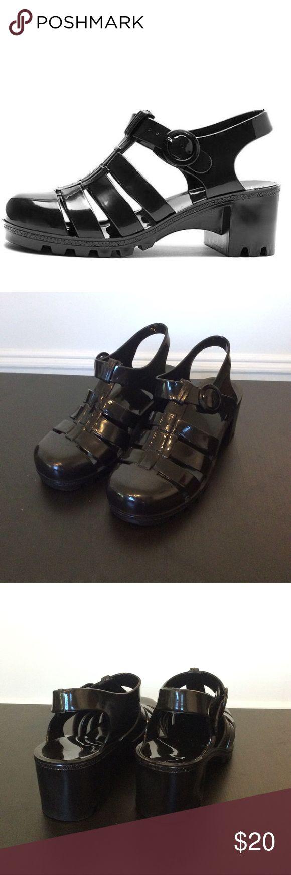 Black jelly sandals american apparel - American Apparel Juju Jellies American Apparel Juju Jellies In Black Size 6 Super Comfy