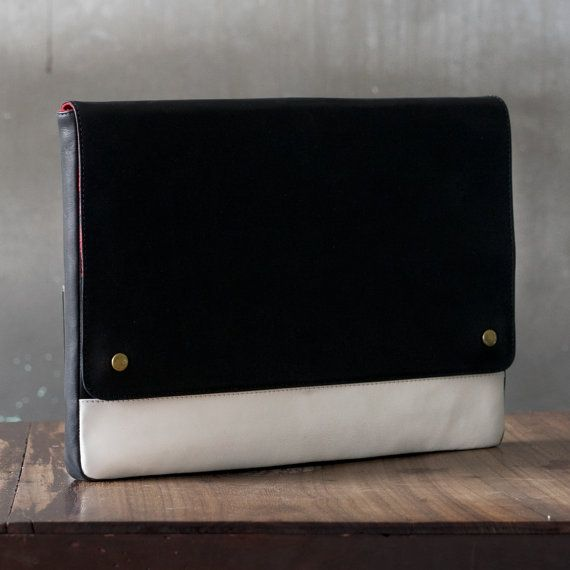 Leather Laptop Sleeve Leather Macbook Sleeve by STUFFORHUMANS