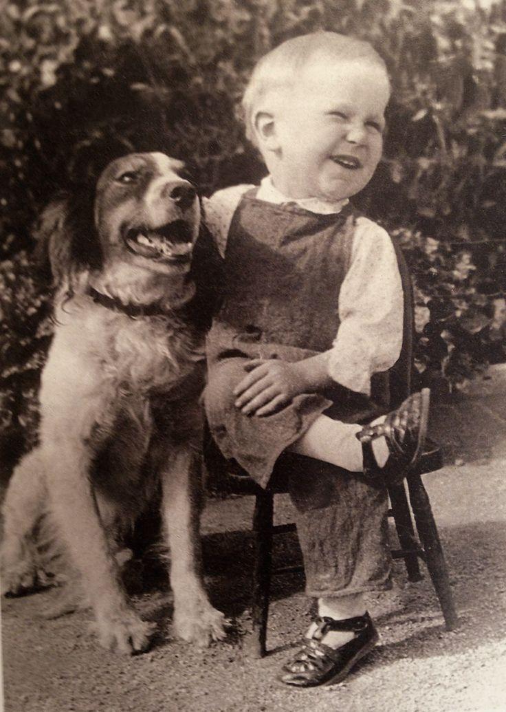 vintage photo...boy and his best friend