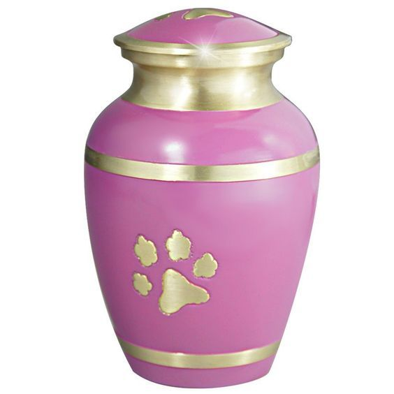 Meilinxu - Pet Funeral Urns for Dogs Ashes - Cremation Urns for Cats Ashes - Hand Made in Brass - Attractive Display Burial Urn - Pet Memorial Baby Urn - Cremated Remains (Large Urn) -- You can get more details here : Dog Memorials