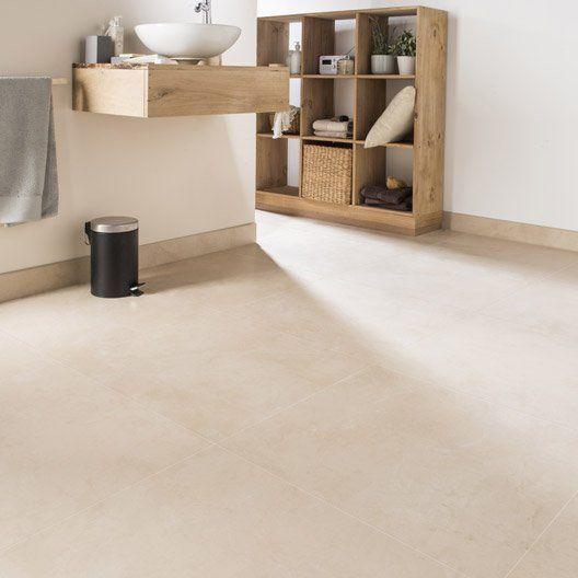 Carrelage sol et mur beige effet marbre murano l 60 x l 60 for Carrelage beton cire beige
