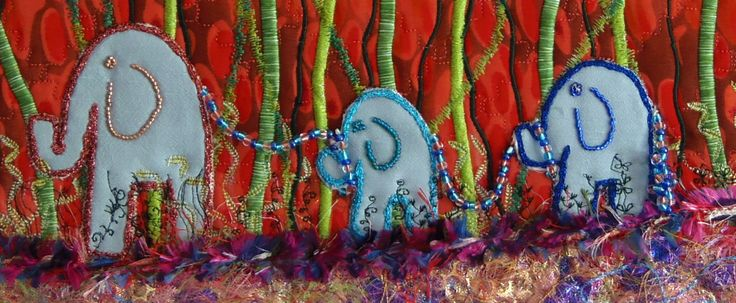 """Close up of the """"Elephants on Parade"""""""