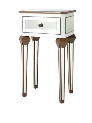 Claire Two Toned Side Table with Drawer