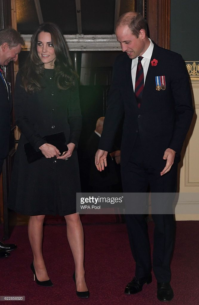 Catherine, Duchess of Cambridge and Prince William, Duke of Cambridge attend the annual Royal Festival of Remembrance at the Royal Albert Hall on November 12, 2016 in London, England. (Photo by Victoria Jones-WPA Pool/Getty Images)