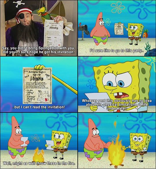 I don't watch SpongeBob but I must admit that this was funny. :)