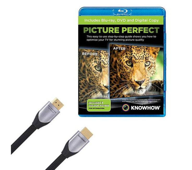 Buy KNOWHOW  Silver Series HDMI Cable with Picture Perfect, Silver Price: £49.99 To get your TV looking perfect, consider the Sandstrom Silver Series HDMI Cable with Picture Perfect. The 2 m cable means you can connect your Blu-ray player to your HD TV quickly and reliably, whilst Picture Perfect helps to guide you through your TV settings so you can enjoy an optimised set up for your living...